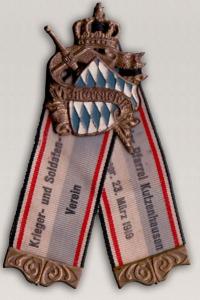 Ehrenzeichen zur Gründung des Vereins