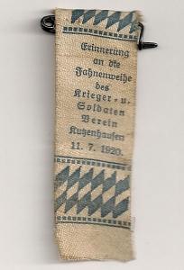 Festzeichen zur Erinnerung an die Fahnenweihe 1920