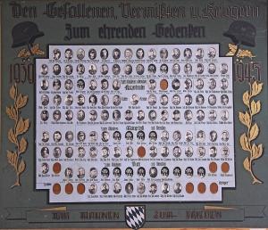 Den Gefallenen, Vermißten und Kriegern zum ehrenden Gedenken.